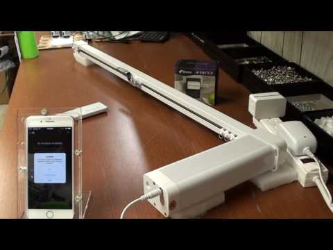 Motorized Curtain Rod operated by Apple HomeKit and Idevices Smart Plug
