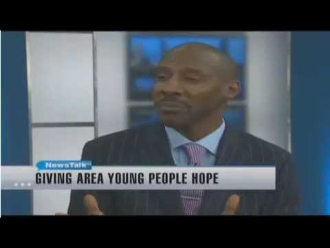 Ray Bell Administrator of the HOPE Project on News Channel 8
