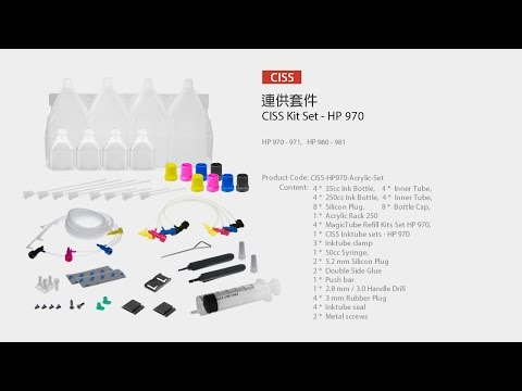HP Officejet Pro X Series Printer Ink Supply System - CISS