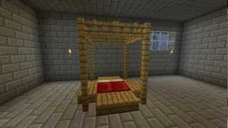How to make an AWESOME Bed in Minecraft! [Minecraft Furniture Episode 18]