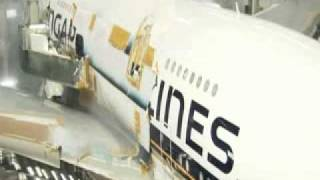 singapore airlines a380 painting