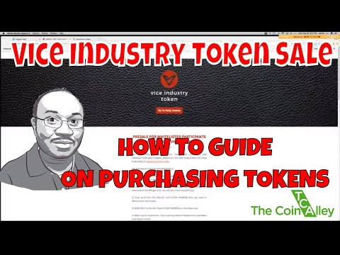 Vice Industry Token (VIT) Presale now Live + A How to Tutorial on Purchasing Tokens
