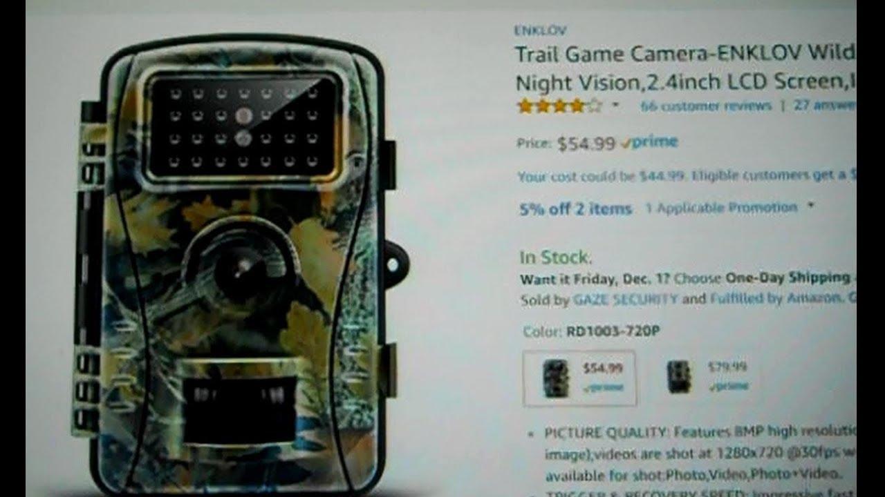 Trail Game Camera-ENKLOV Wildlife Camera with Infrared Night Vision
