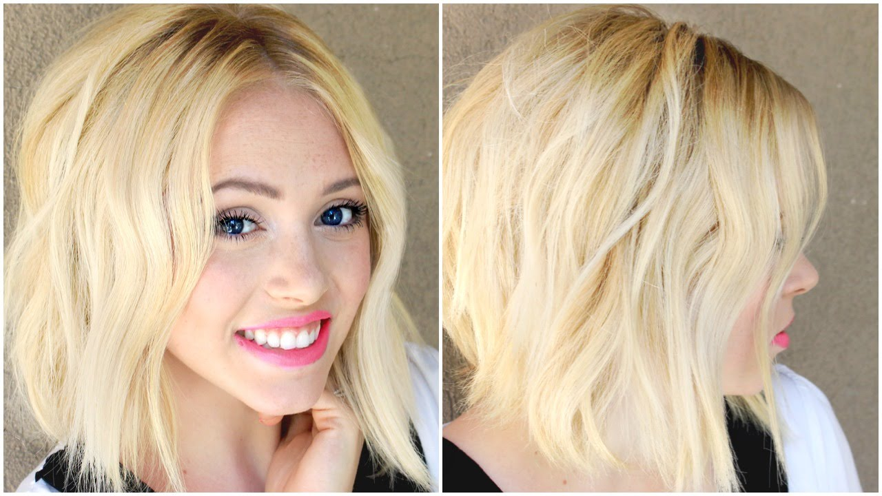 How To Get EASY Beach Waves With A Flat Iron Short Or Long