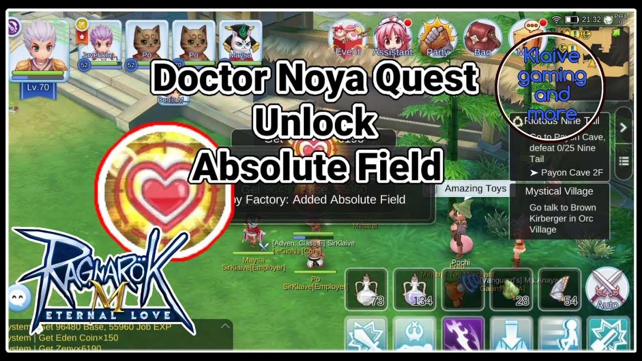 Doctor Noya Quest: Unlock Absolute Field - Ragnarok Mobile Eternal Love