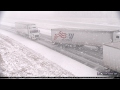 Interstate 55 pileup in snow caught on camera in 4K - Elkhart, Illinois - February 8, 2017