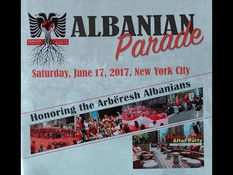 Albanian Roots Parade in Manhattan, honors the Arberesh people of Italy, Saturday, June 17, 2017