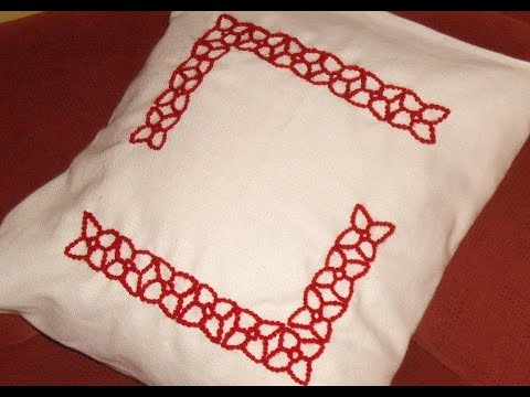 Course of basic embroidery 22: Embroidered cushion without zip closure