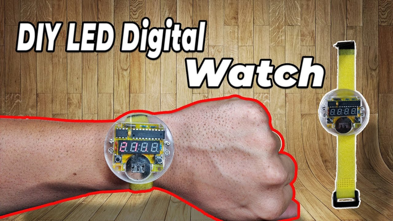 How To Assemble Led Digital Watch Kit Diy