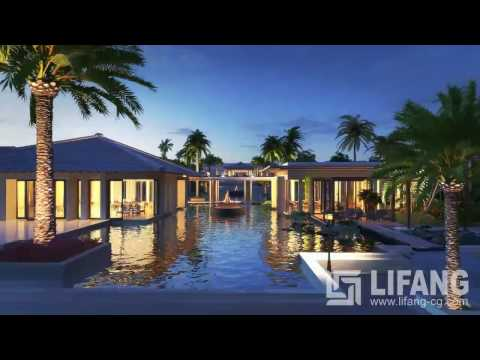 Sea View Resort/Hotel/Villa/Cottage 3D Animation by Lifang Vision