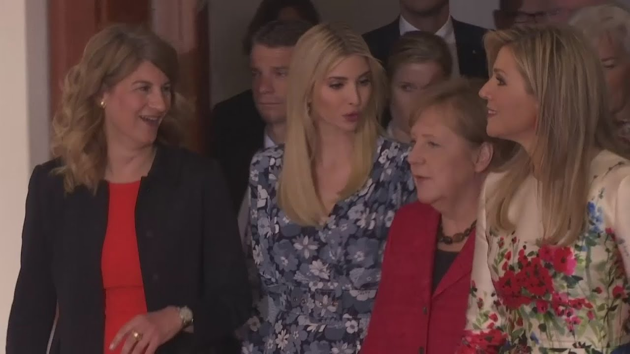 Ivanka Trump heckled for defending father at women's summit