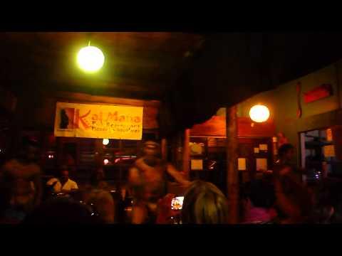 Rapa Nui dancers in restaurant - Easter Island