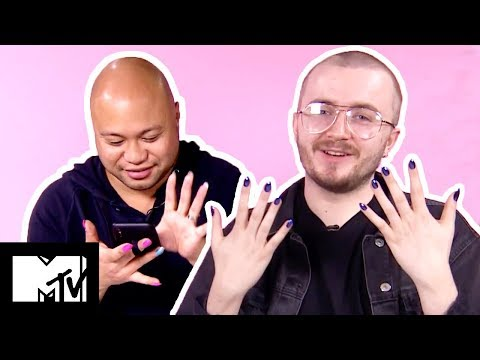 Guys Try Fake Nails  MTV Style