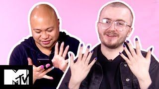 Guys Try Fake Nails | MTV Style