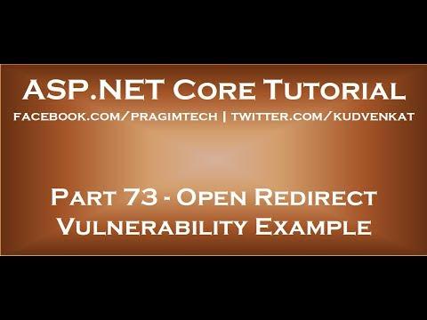 Open redirect vulnerability example