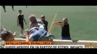 Vergonzosa pelea entre padres en un partido de infantiles en Mallorca