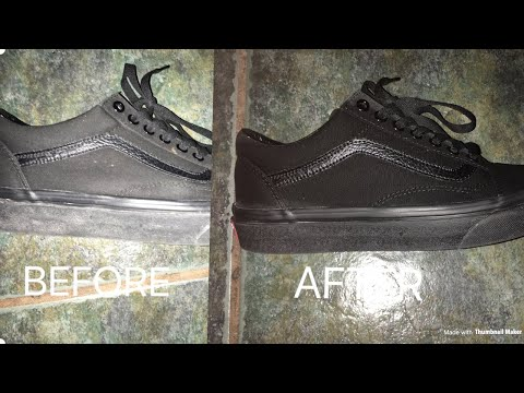 How to clean all black vans toothpaste and soap simple 2 things