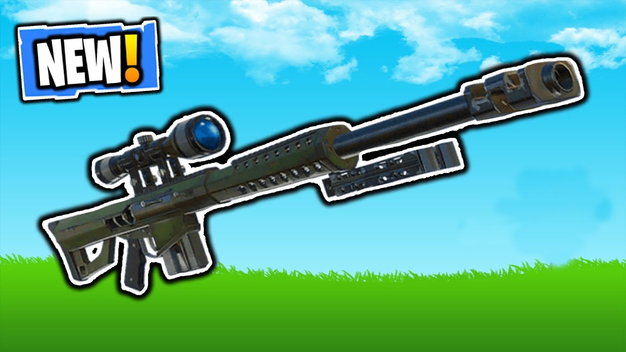 Fortnite New Heavy Sniper Rifle Gameplay New Heavy Sniper Rifle