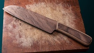 Аmazing Рroject.Wooden Damascus Kitchen Knife. CRAFTROOM