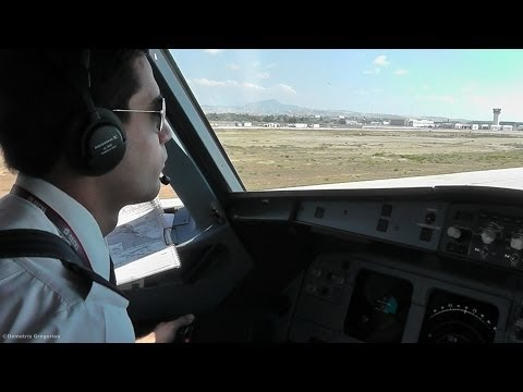 A320 Cockpit Action | Cyprus Airways Flight LCLK-LGAV | Larnaca to Athens-CYP312