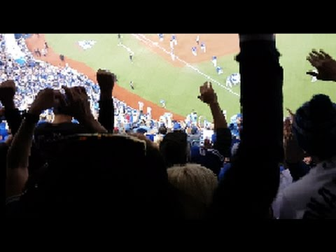 Crowd Reaction to Walk Off Win Blue Jays vs Texas Game 3
