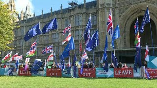Scene outside British Parliament ahead of Brexit deal debate | AFP