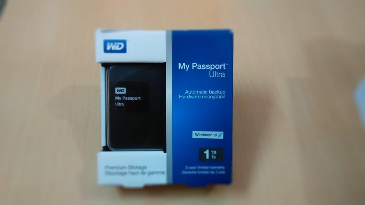 wd my passport ultra 2 5 inch 1tb 2tb external hard drive wdbgpu0010bbk black unboxing. Black Bedroom Furniture Sets. Home Design Ideas