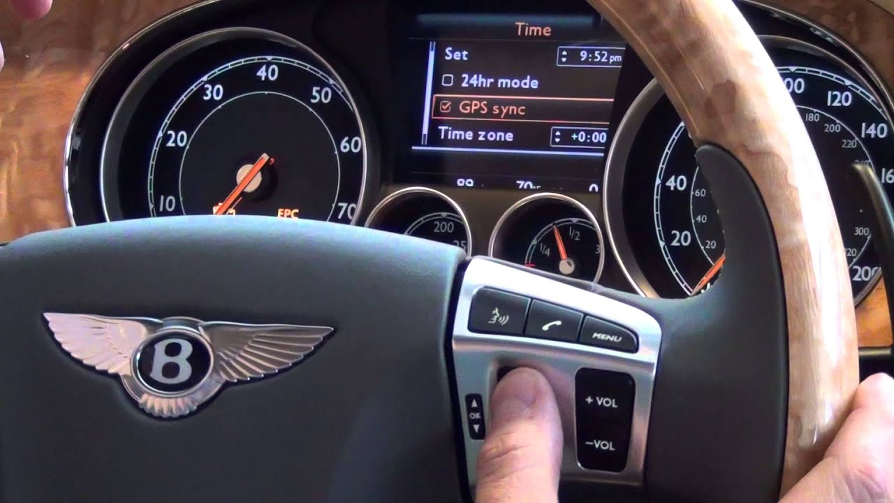 Faq 1 Setting The Breitling Clock On A Bentley Gtc Morrie S