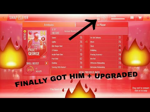 NBA LIVE MOBILE - Paul George HARVEST PACK OPENING + UPGRADING HIM  EP.10
