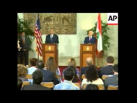 WRAP Secretary of State in Beirut, comments