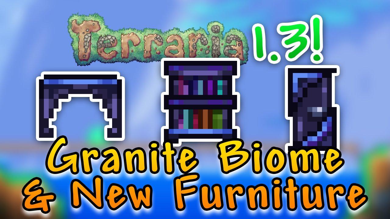 Granite Biome And New Furniture Terraria 1 3 New Items