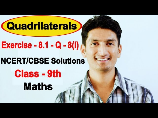 Chapter 8 Exercise 8.1 Question 8(i) - Quadrilaterals Class 9 Maths - NCERT Solutions