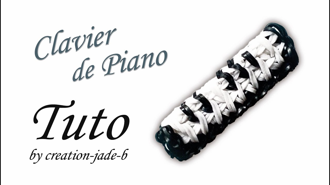 tuto rainbow loom clavier de piano youtube. Black Bedroom Furniture Sets. Home Design Ideas