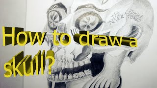 How to draw a SKULL?/SKULL DRAWING/Как нарисовать череп?/Рисование черепа(How to draw a SKULL?/SKULL DRAWING/Как нарисовать череп?/Рисование черепа Канал Виталия: ..., 2016-08-18T10:35:02.000Z)