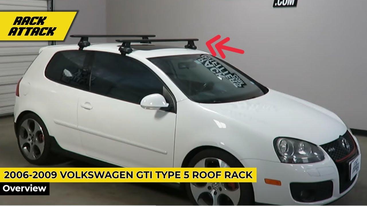 Volkswagen GTI 3 Door Type 5 with Thule Rapid Traverse AeroBlade Roof Rack Crossbars  YouTube