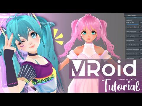 【VROID】 Crea personajes en 3D fácil!! ( Guía para principiantes + TIPS!!) SUB ENG