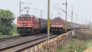 HIGH SPEED PERFECT CROSSING TRAINS | DIESEL TRAINS & ELECTRIC TRAINS | INDIAN RAILWAYS