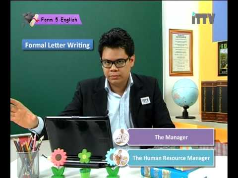 iTTV SPM Form 5 English Chapter 6 Formal Letter -Tuition/Lesson/Exam/Tips