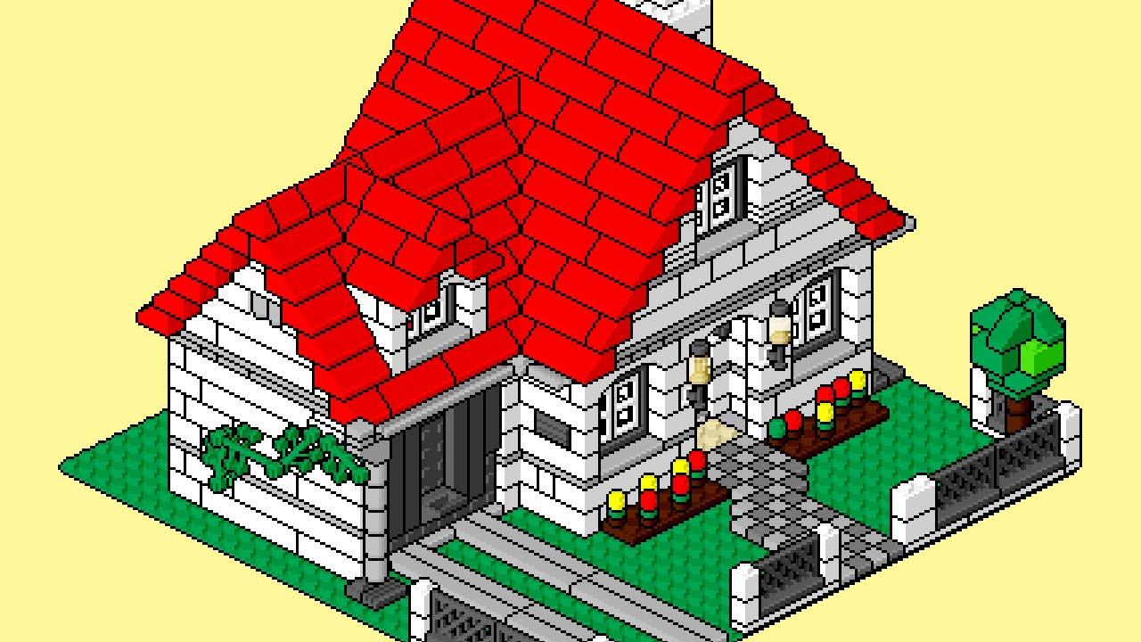 Lego Instructions Pixel Art Movie 4956 Part3 Lego House Youtube