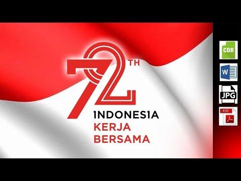 Download Full Logo 72th Dirgahayu Indonesia