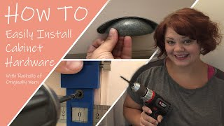 How To Easily Install Cabinet Hardware 1:3 The Master Half Bath - Reviving Pine Drive