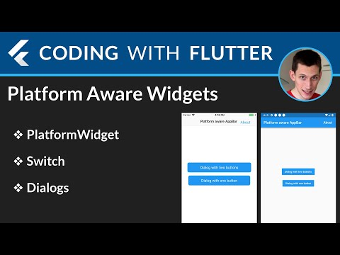 Flutter: Platform Aware Widgets and Dialogs