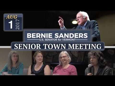 Senior Town Meeting with Bernie Sanders 8/1/17 in Bratt