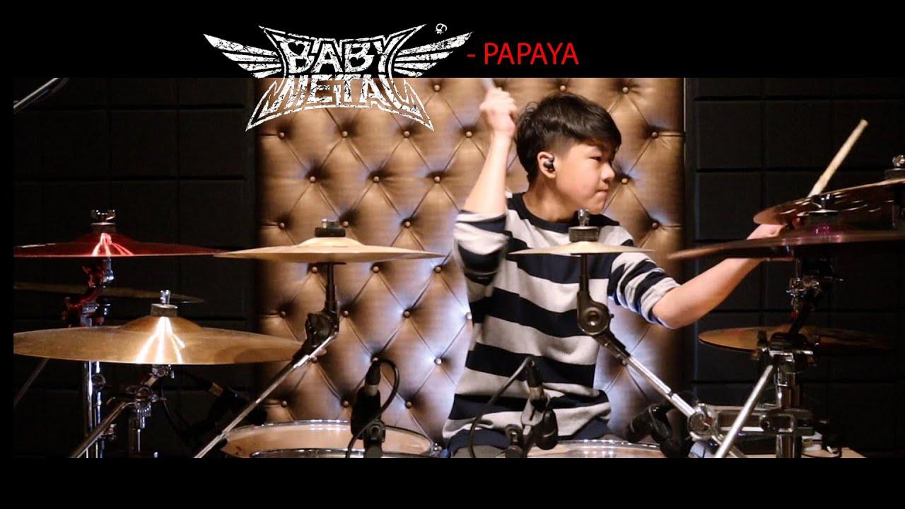 BABYMETAL - PAPAYA!! (feat F.Hero) | Drum Cover | Gene OVD 13 Years old