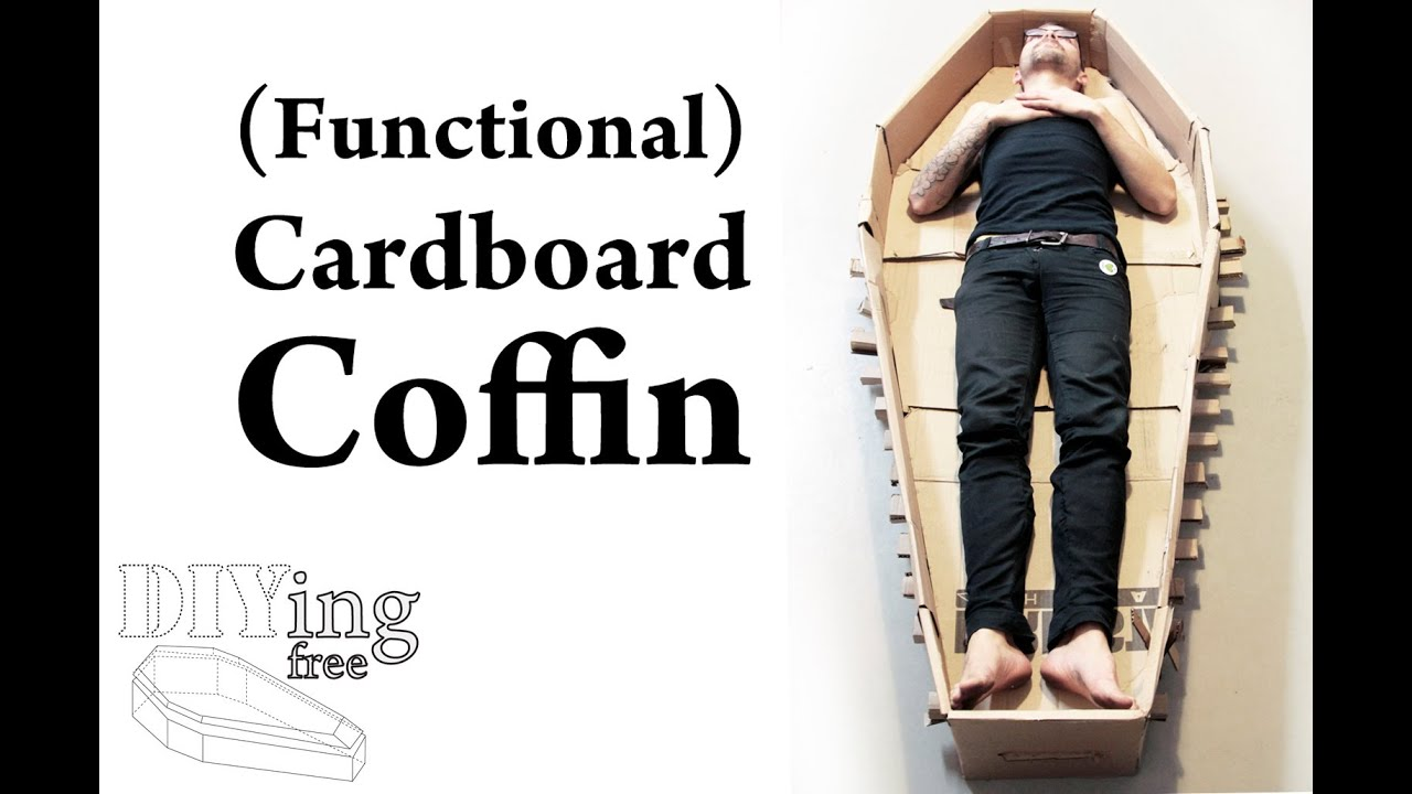 How To Make A Coffin Out Of Cardboard DIYing Free YouTube