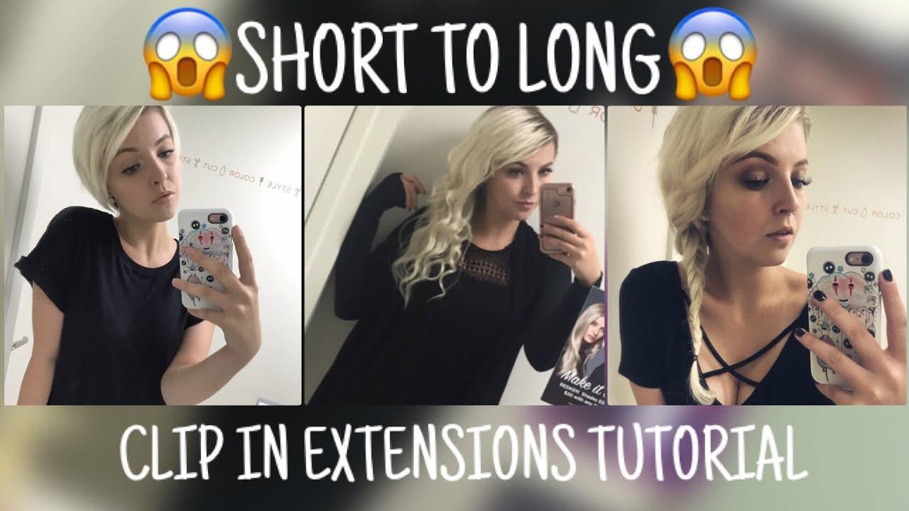 Clip extensions short hair