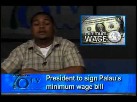 President Signs Palau's Minimum Wage Bill