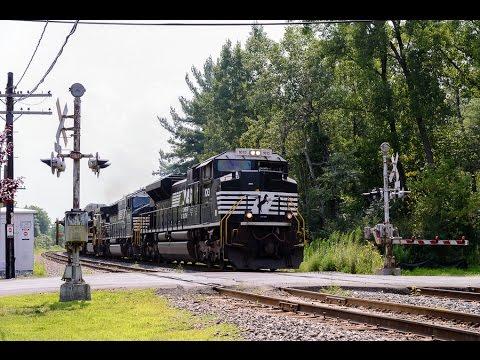 8-1-14: NS Work Train at Alplaus, NY