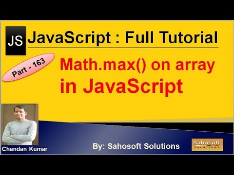 Math.max on array value in JavaScript | JavaScript Full Tutorial in Hindi thumbnail