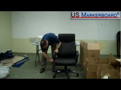 How To Assemble The High Back Double Layer Executive Chair From Boss   US  Markerboard   YouTube